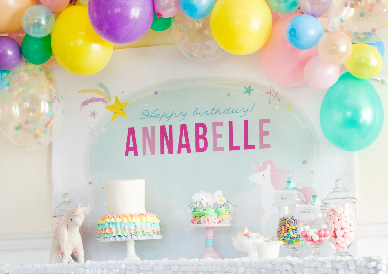 Dessert table from Magical Unicorn Party | Black Twine | Itsy Belle Studio