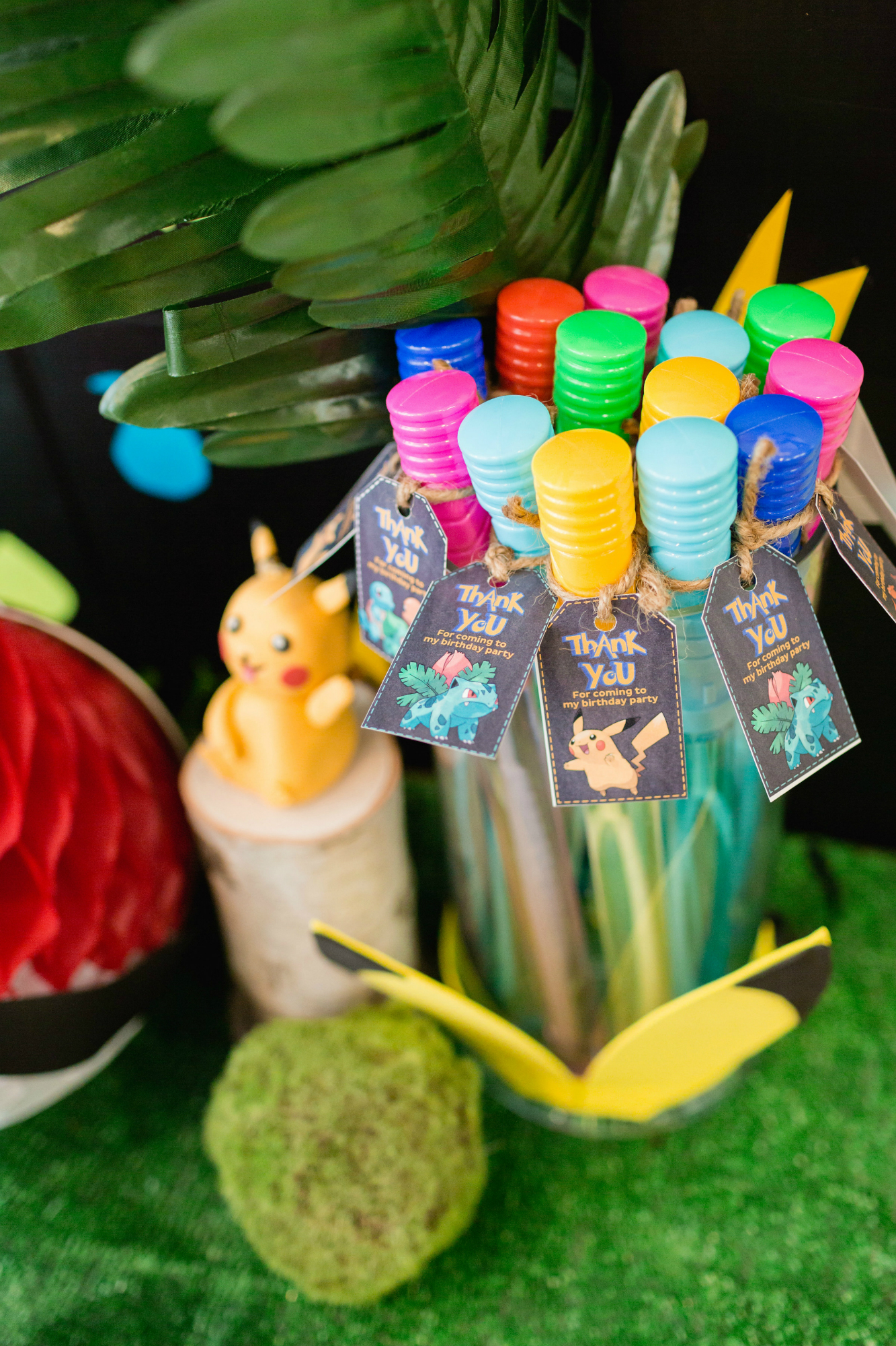Pokemon Birthday Party Bubble Favors | Black Twine