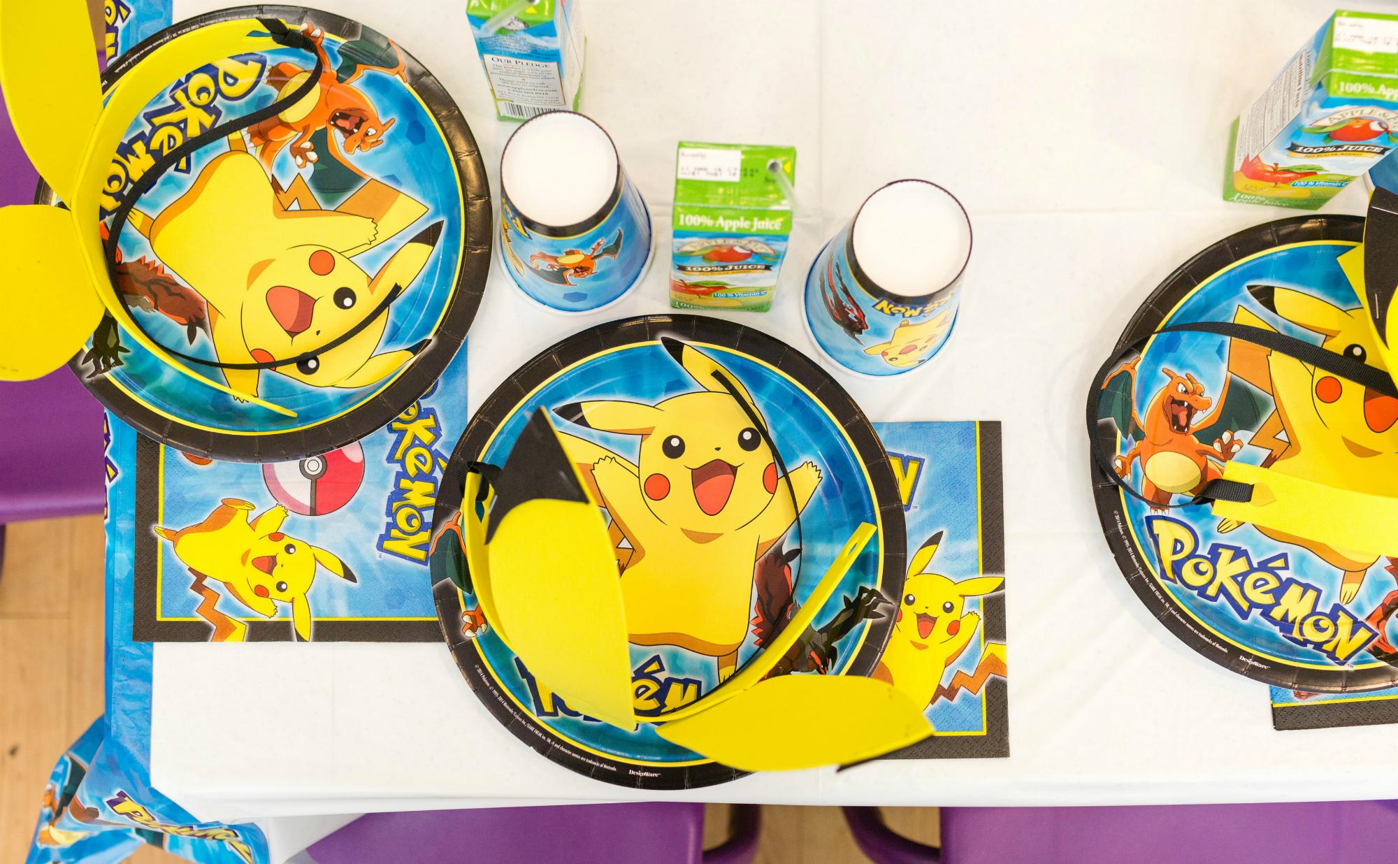 Pokemon Birthday Party Plates | Black Twine