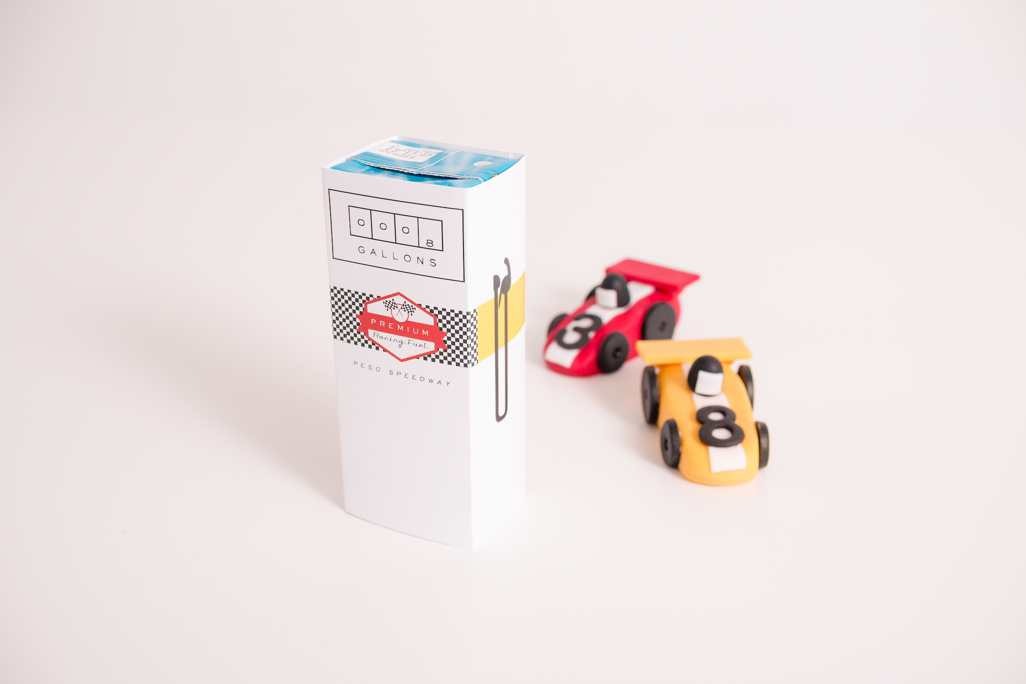 Race car party juice box wrap | Black Twine | Tania's Design Studio