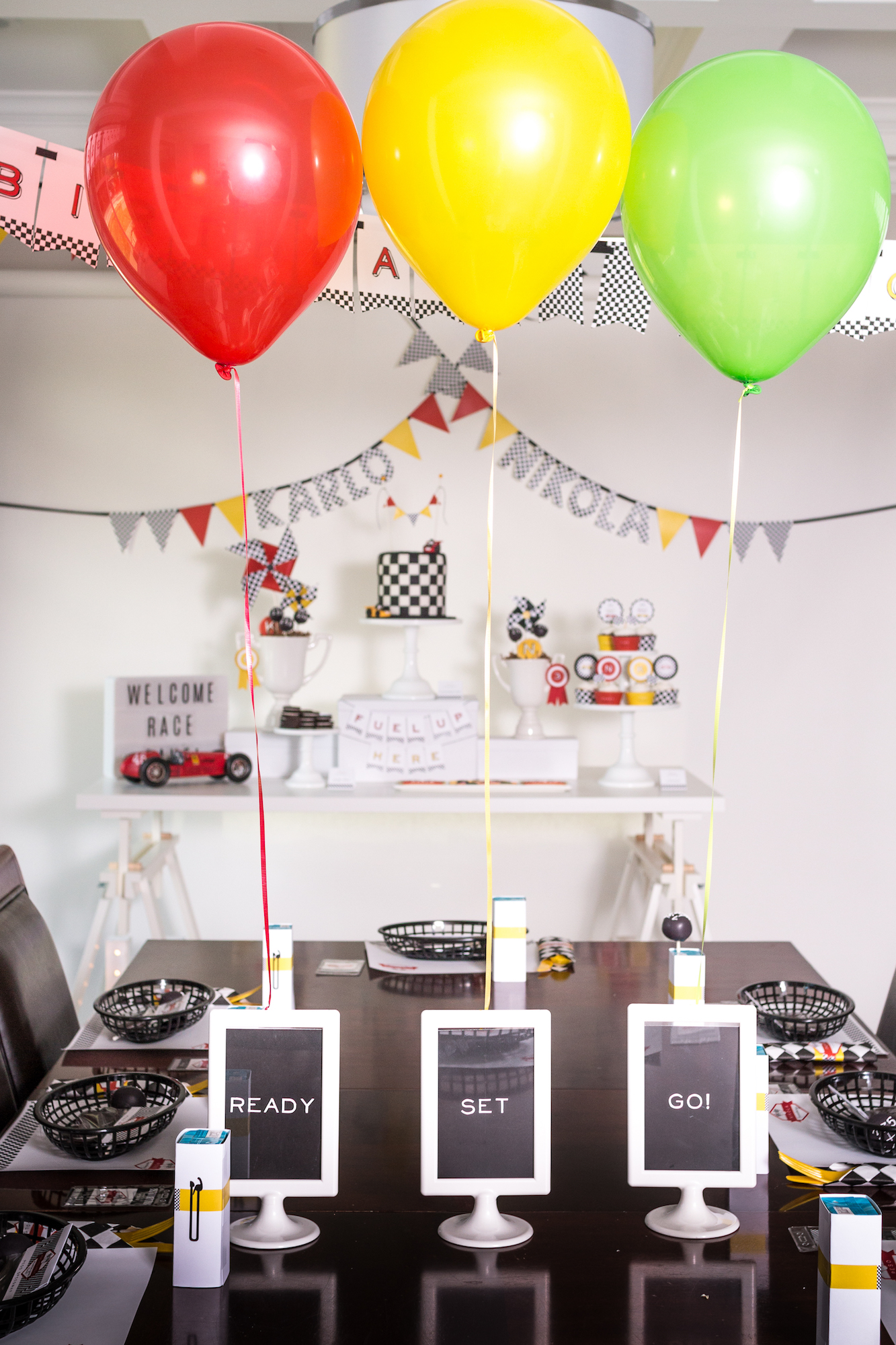 Race car party ready set go frames | Black Twine | Tania's Design Studio