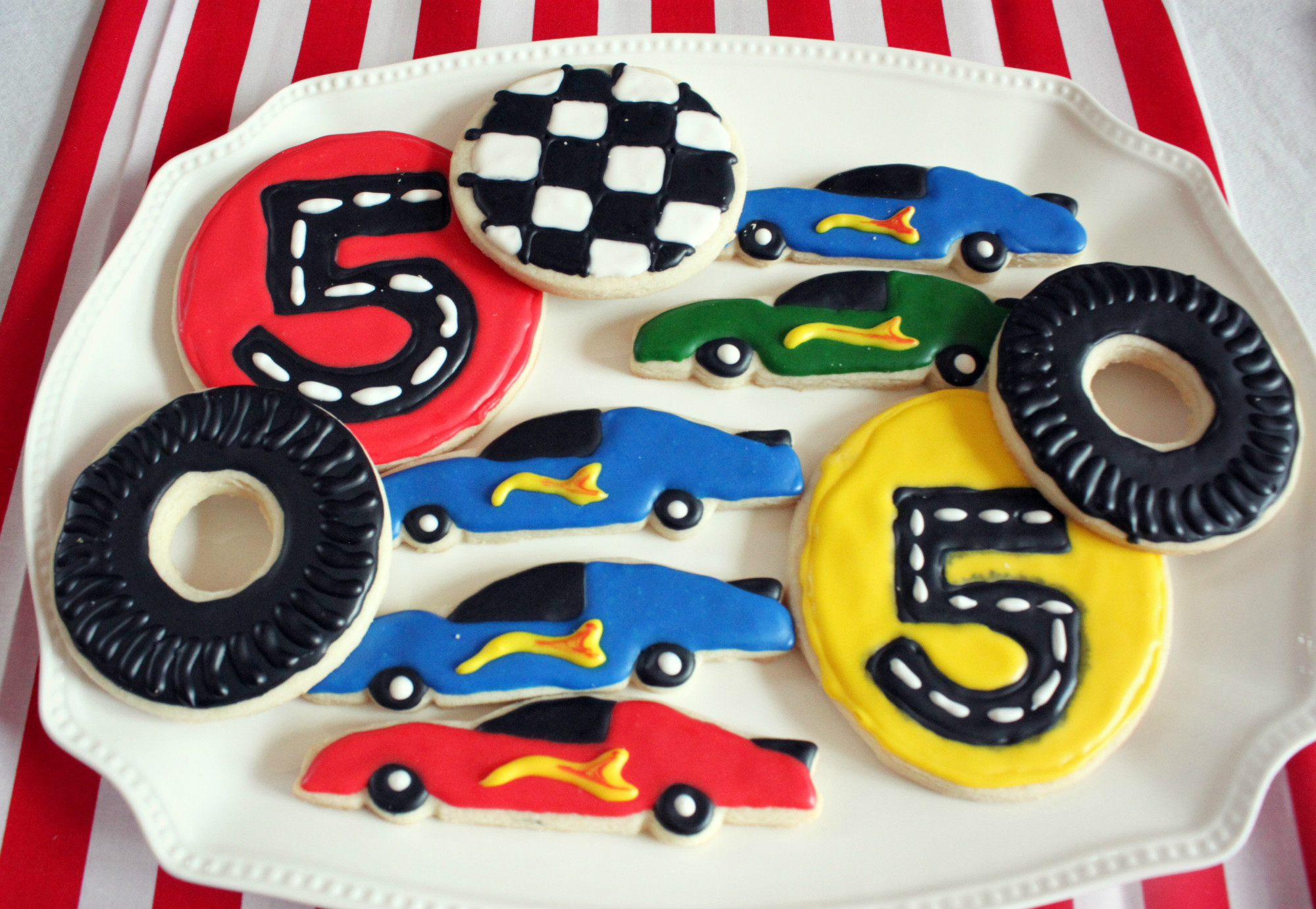 Sugar Cookies from Hot Wheels Birthday Party Dessert Table | Black Twine | The Party Porch