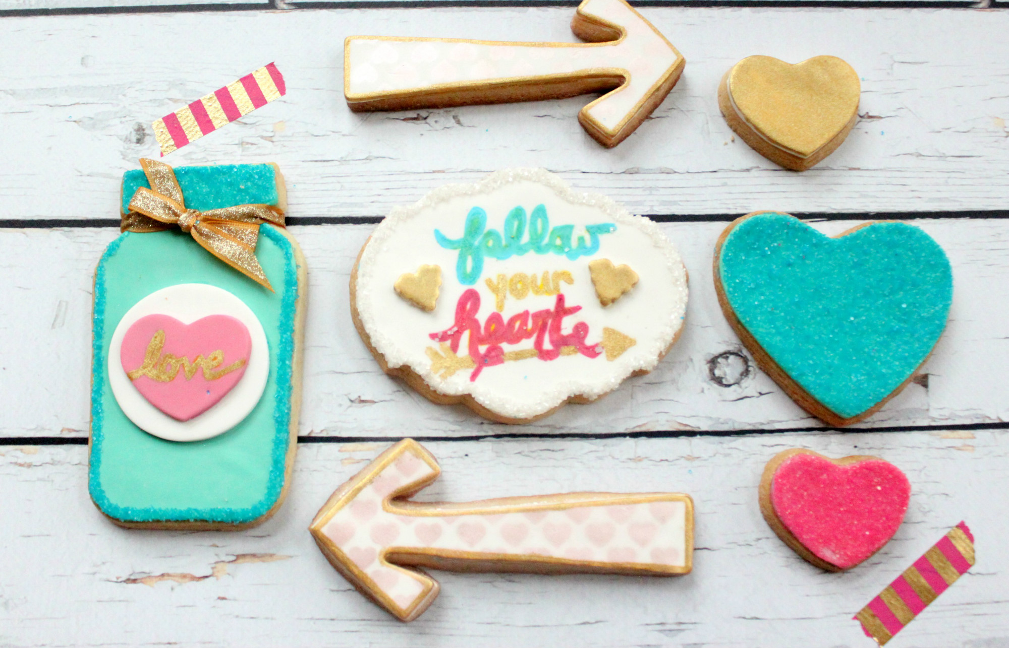 Sugar Cookies from Follow Your Heart Galentine's Day Party Dessert Table | Black Twine | The Party Porch