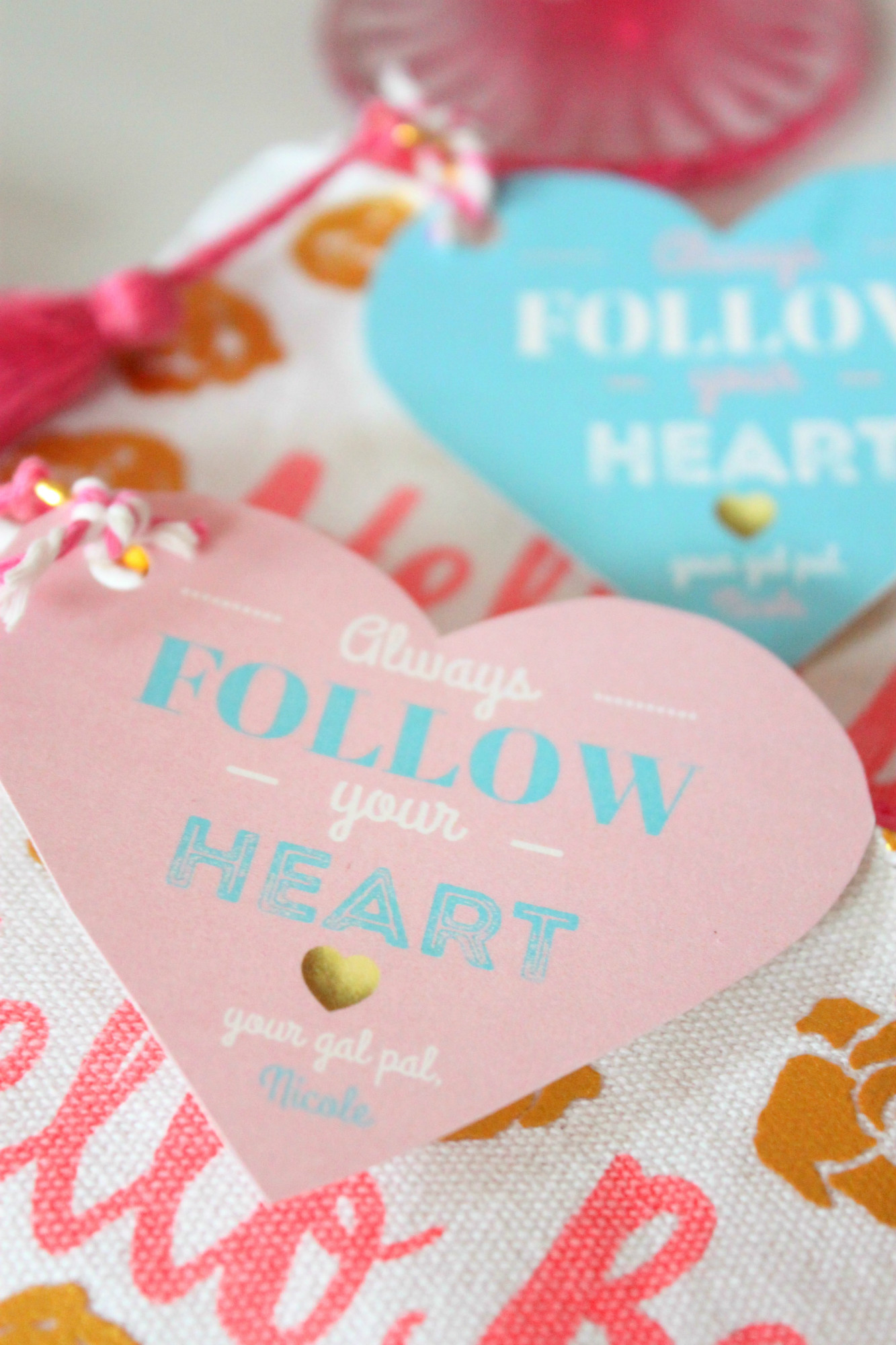 Favors from Follow Your Heart Galentine's Day Party Dessert Table | Black Twine | The Party Porch
