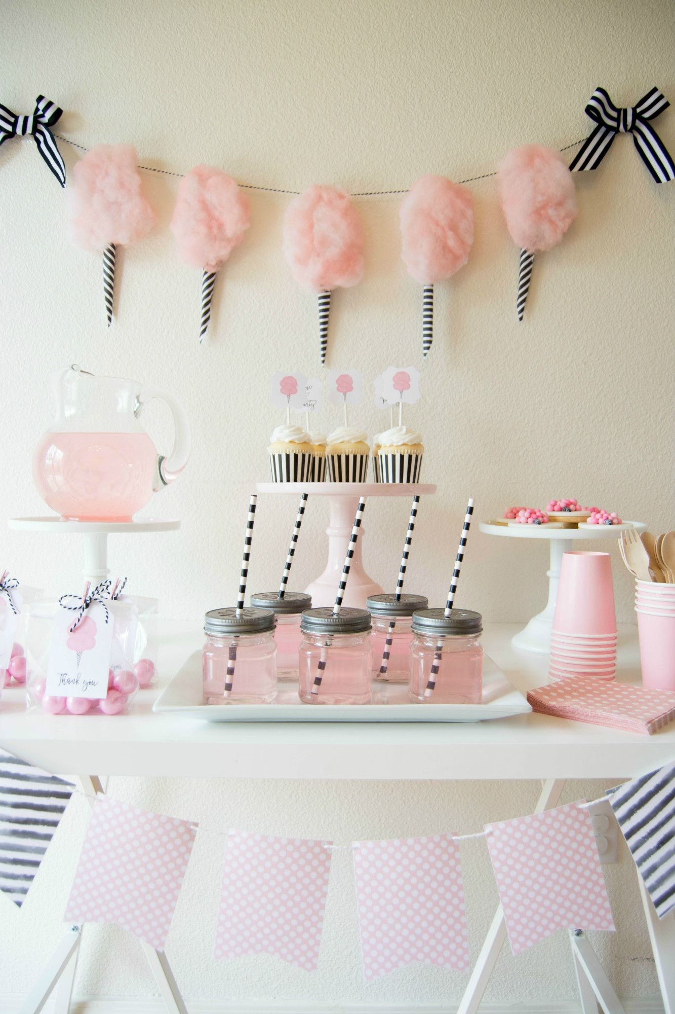 Cotton Candy Party | Black Twine