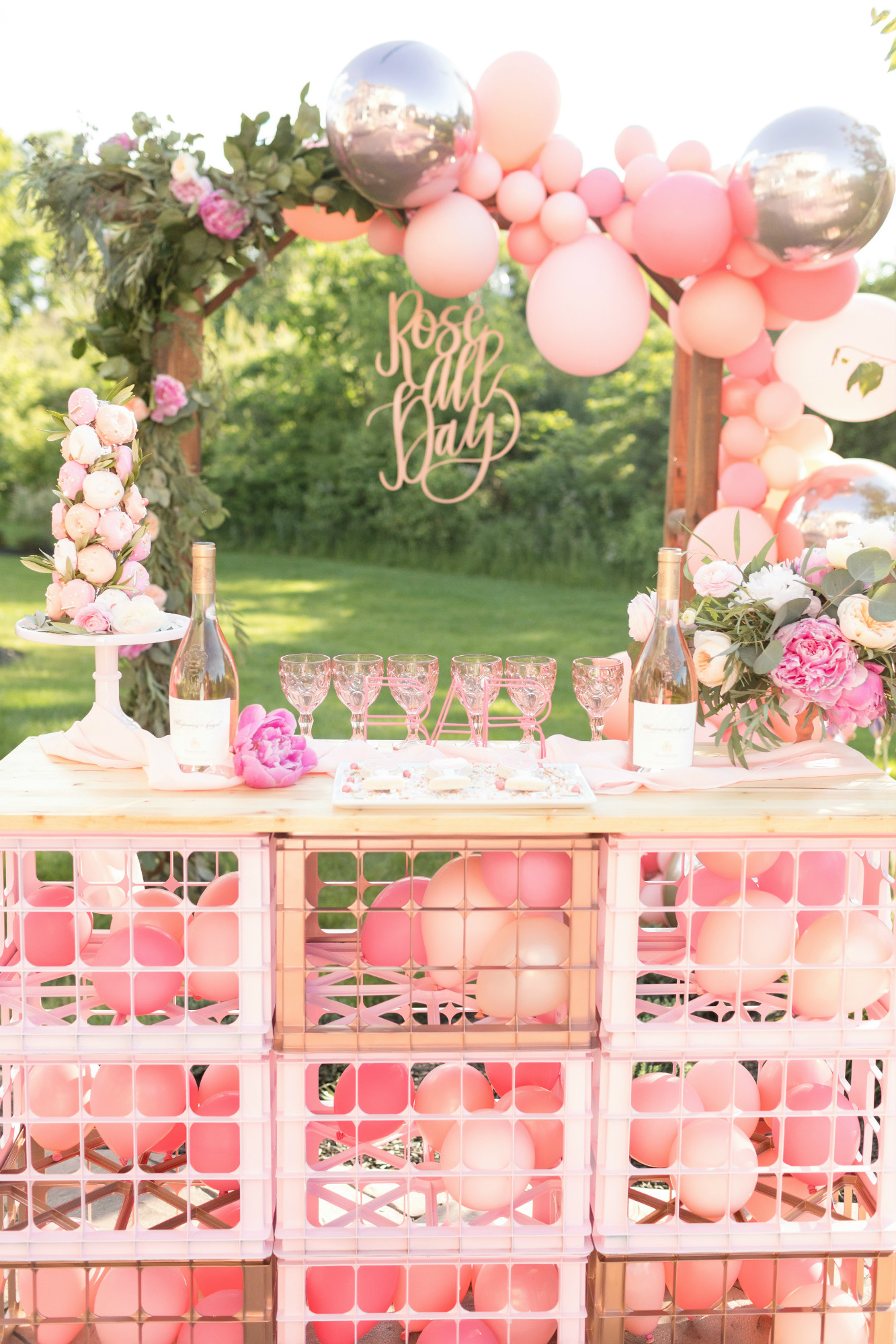 DIY Rose Bar from One Stylish Party Rose All Day Dinner Party | Black Twine