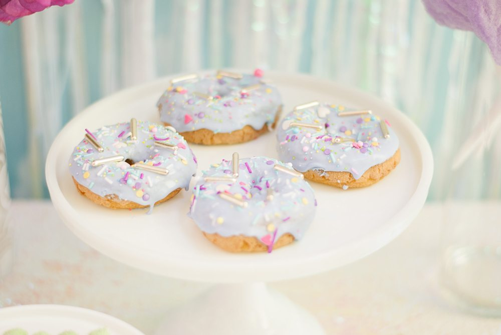 Donuts from Rainbow Iridescent Birthday Party | Black Twine | A Charming Fete
