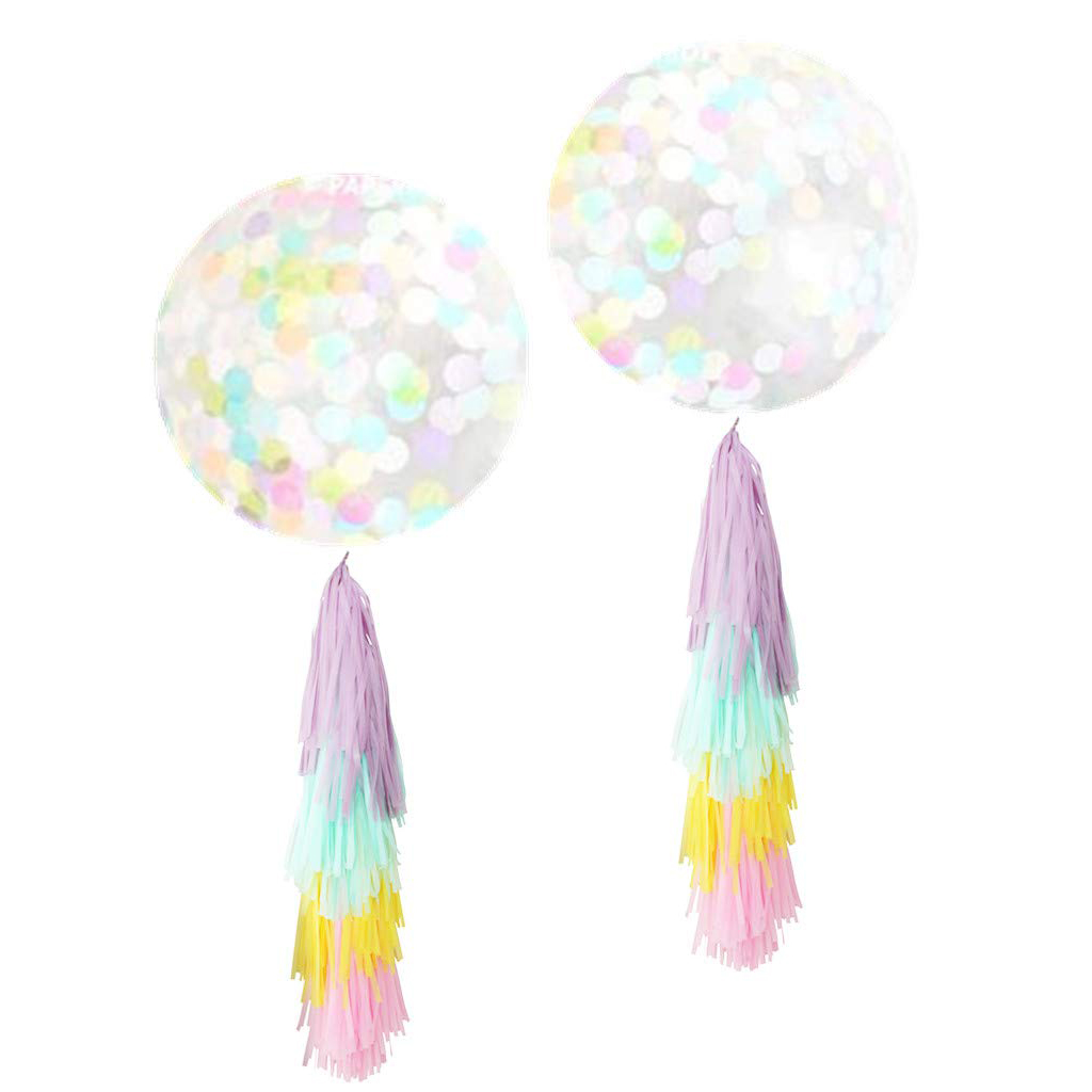 Confetti Balloons with Tassels