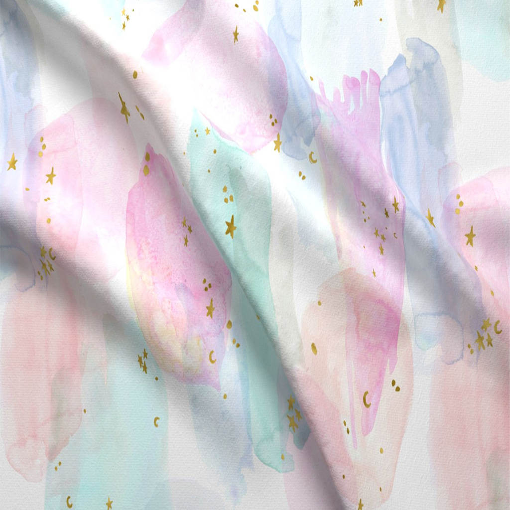 Rainbow Watercolor Fabric Table Runner