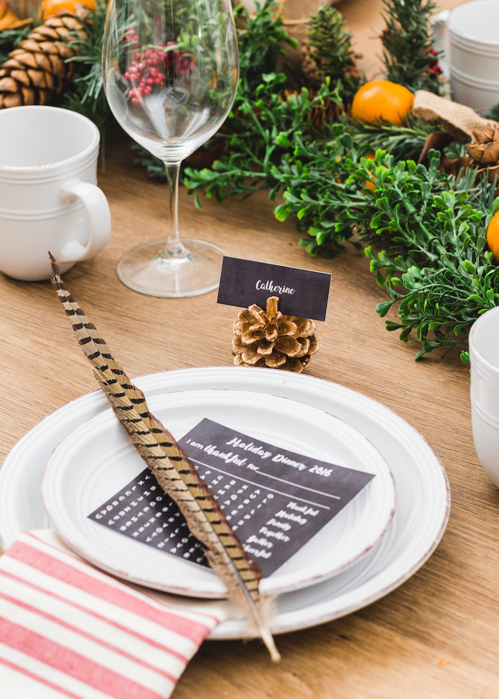 Place Setting from Holiday Dinner Party | Black Twine