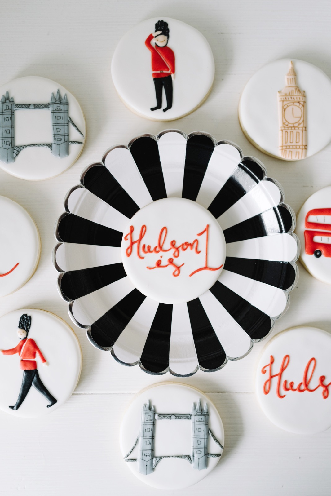 Cookies from London themed party | Black Twine | Amy & Jen Decor