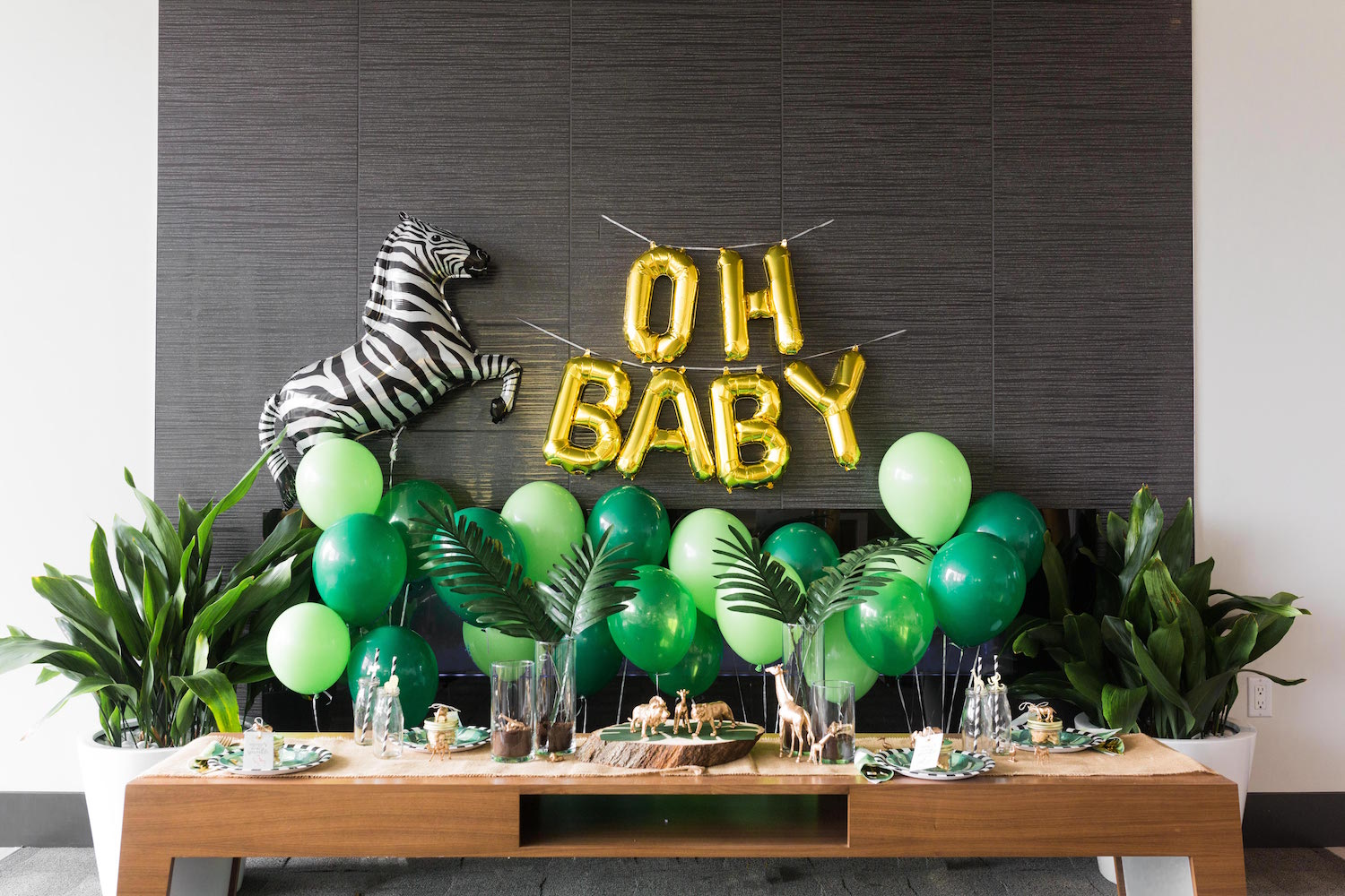 Safari Baby Shower Black Twine