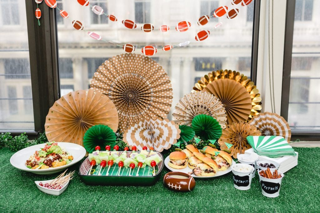 Table Setting from Super Bowl Party