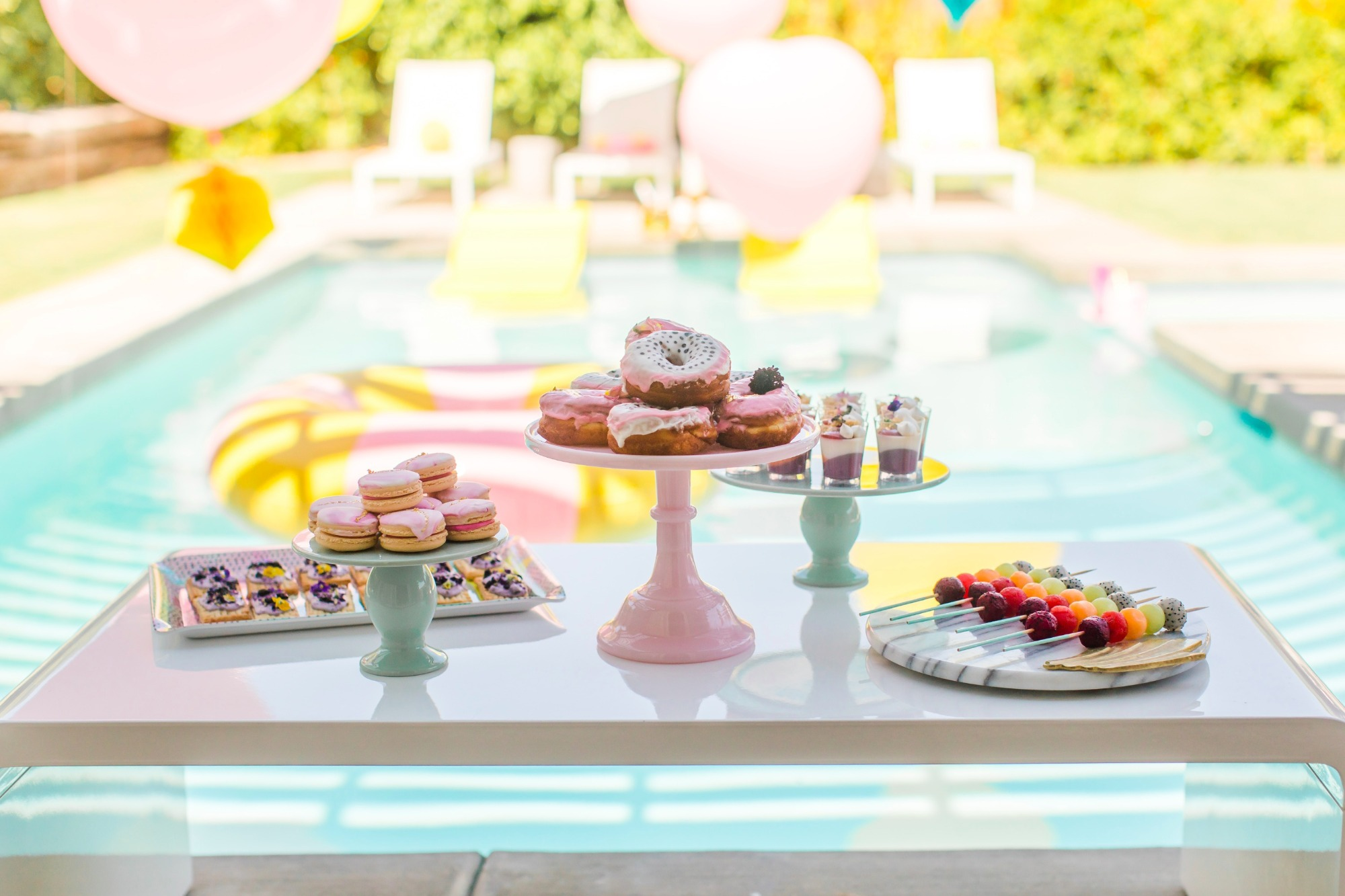 Brunch Poolside from Bachelorette Brunch by But First Party and Bonjour Fete | Black Twine