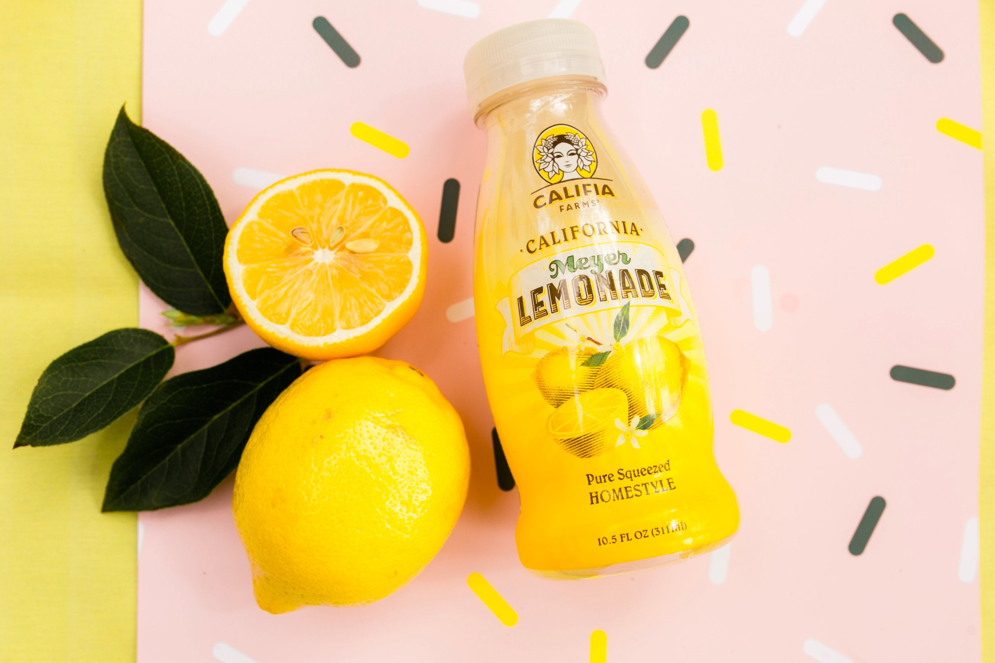 Califia Farms lemonade from Lemonade Stand Birthday Party by Forrest and J. | Black Twine