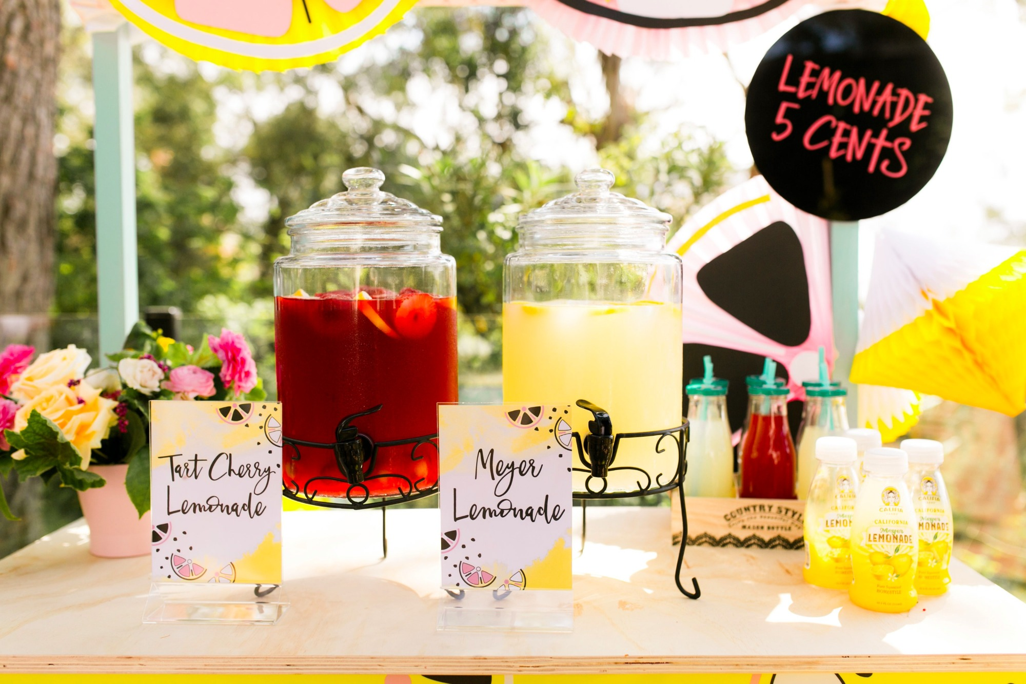 lemonade stand from Lemonade Stand Birthday Party by Forrest and J. | Black Twine