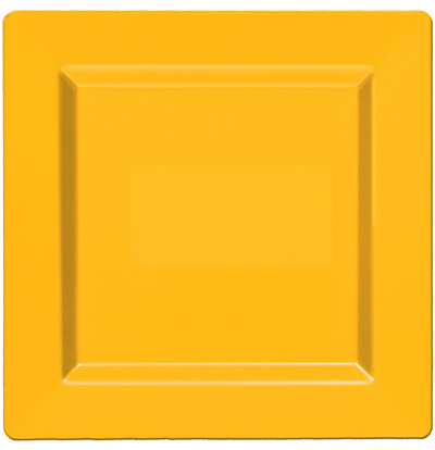 yellow square plates party city