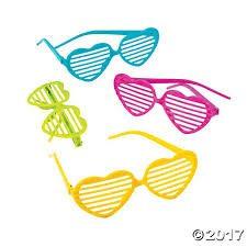glitter heart-shaped shutter sunglasses oriental trading company
