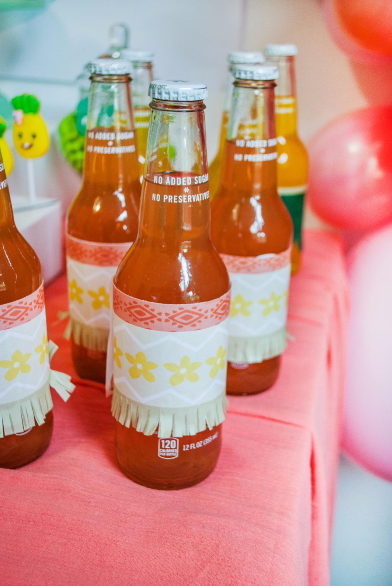 Beverages Drinks from Moana Birthday Party by Itsy Belle Studio | Black Twine