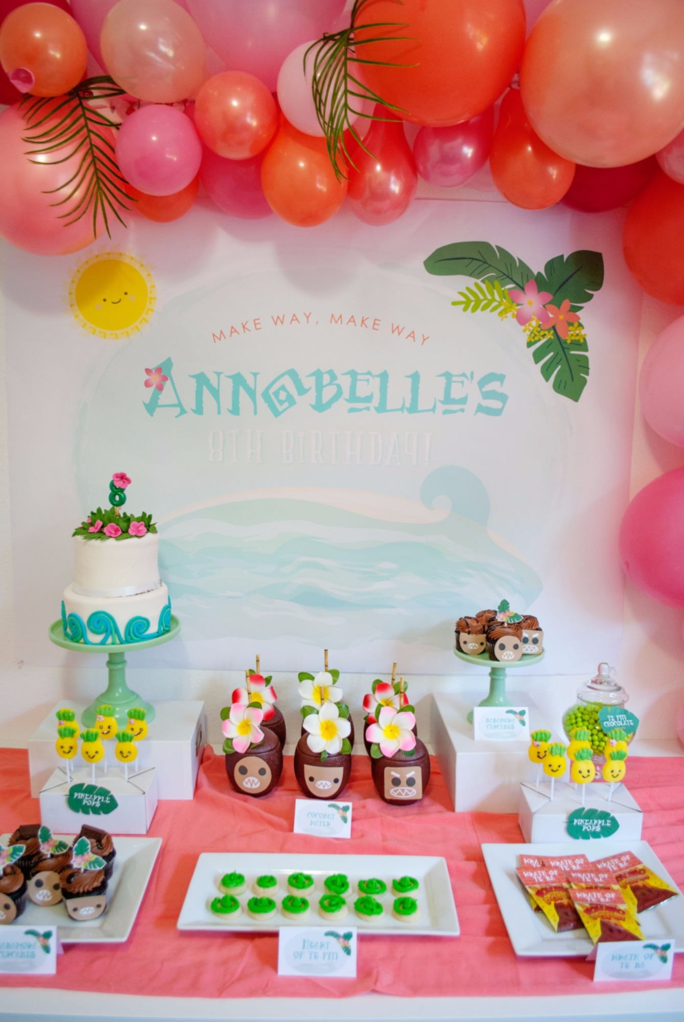 Dessert Table From Moana Birthday Party By Itsy Belle Studio