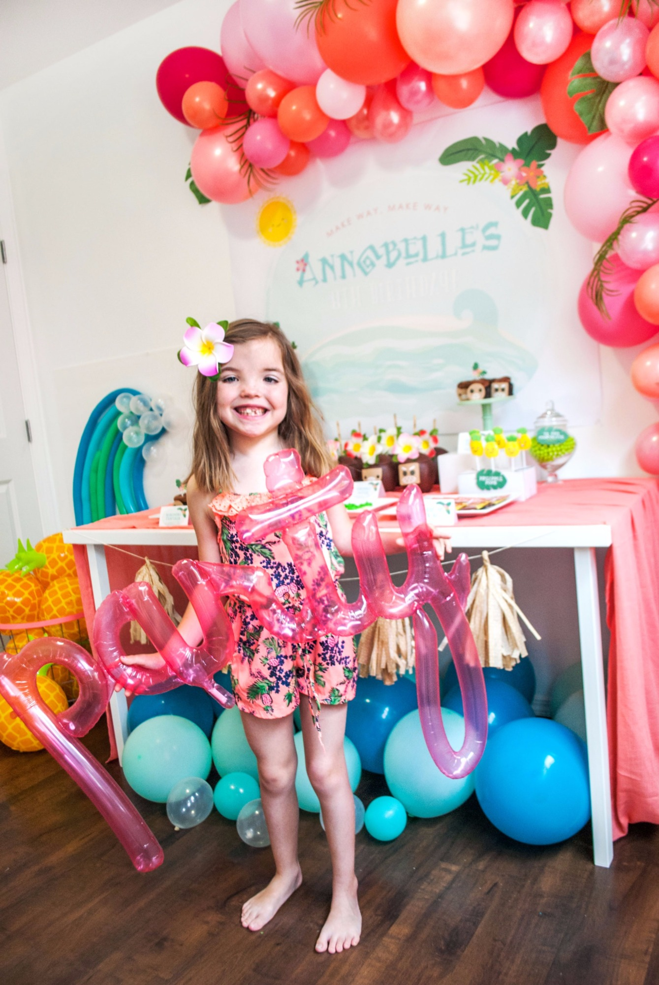 Party Balloon And Birthday Girl From Moana By Itsy Belle Studio