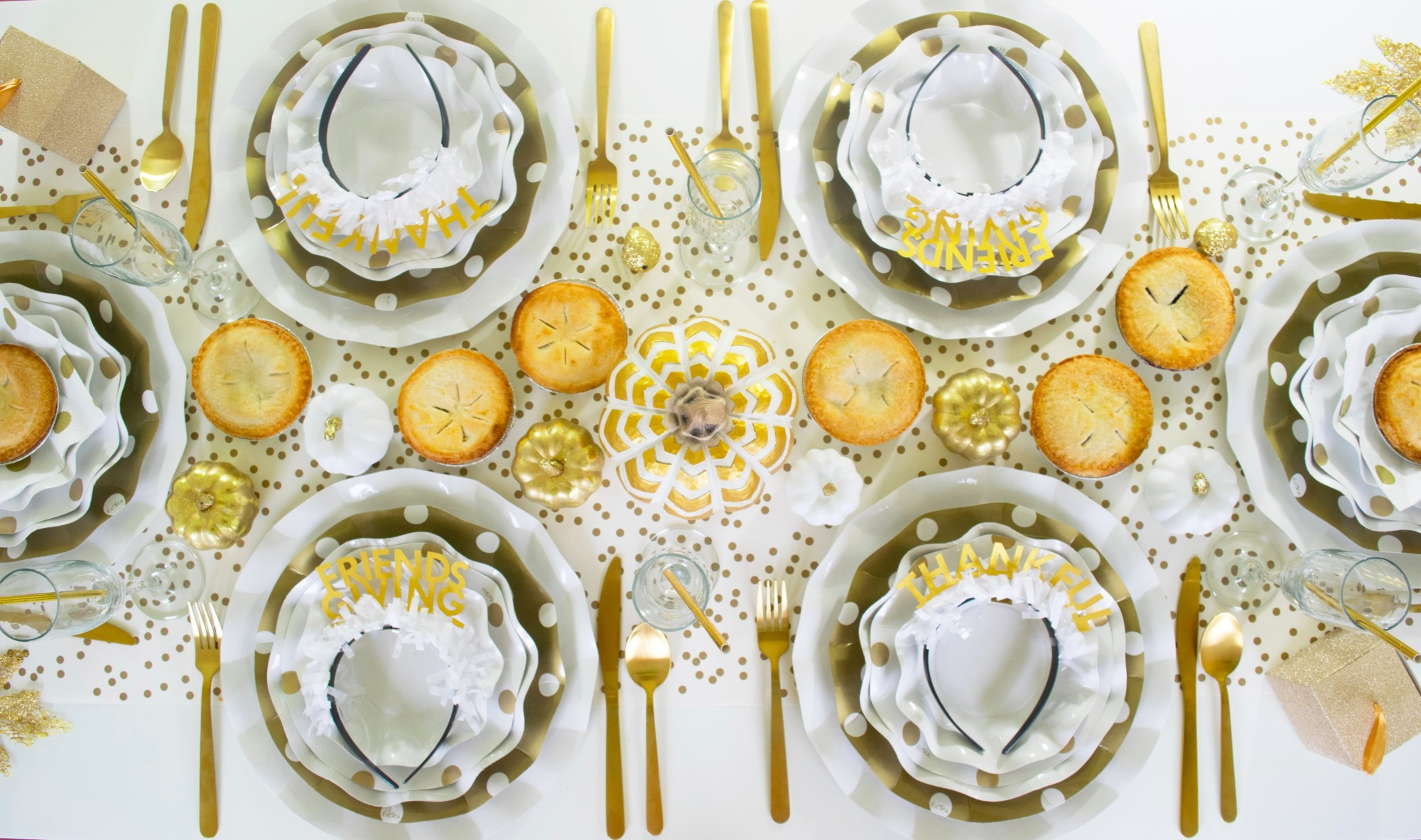 Friendsgiving Thanksgiving Tablescape by Twinkle Twinkle Little Party | Black Twine