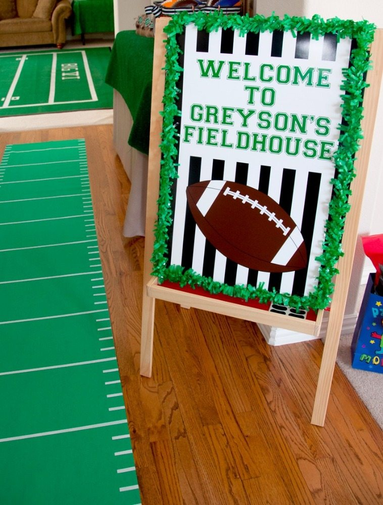 Welcome Sign from Football Party by BellaGrey Designs | Black Twine