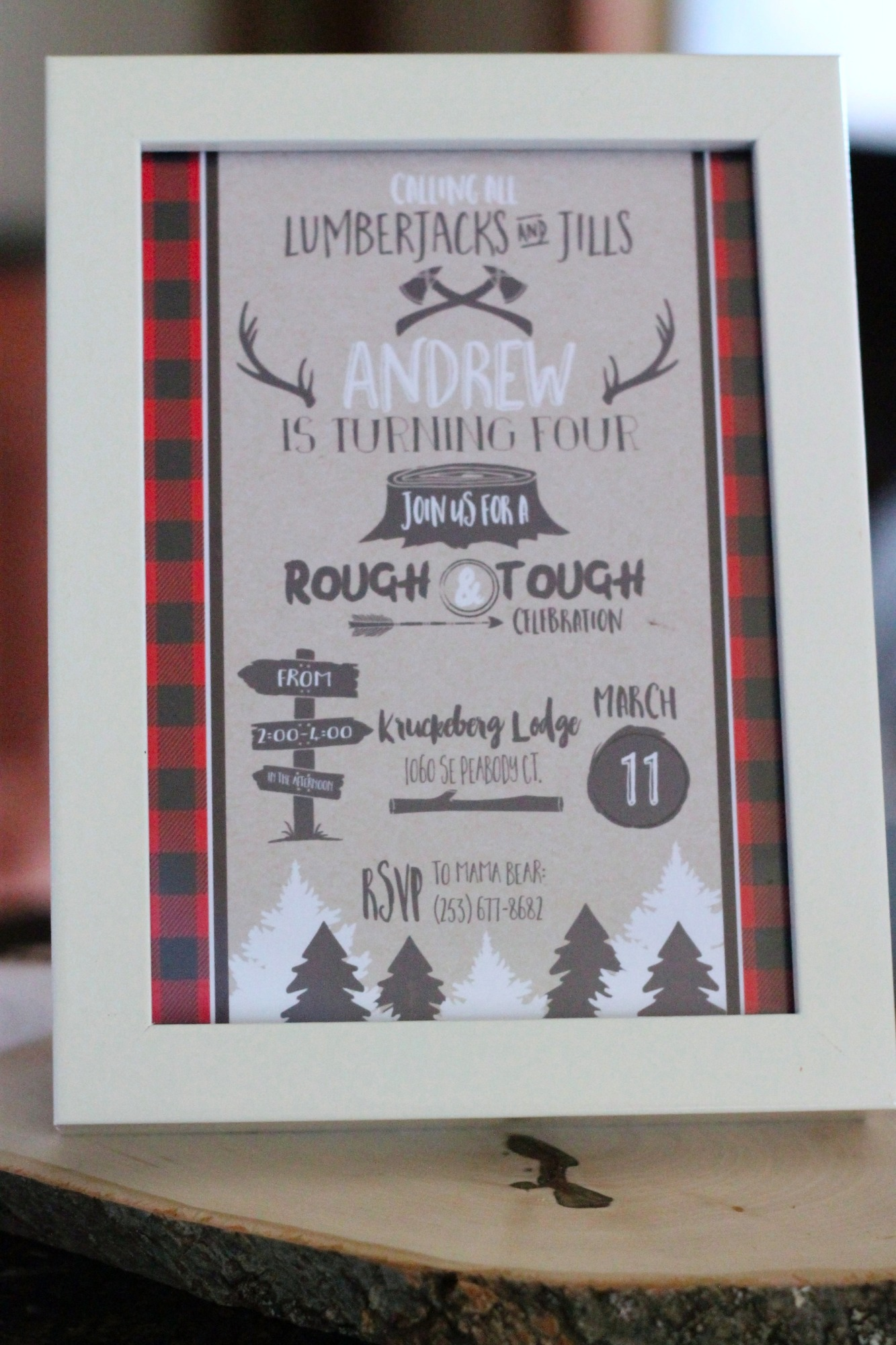Invitation for Lumberjack Party by AK Party Studio | Black Twine