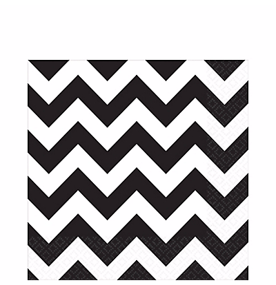 Black Chevron Napkins