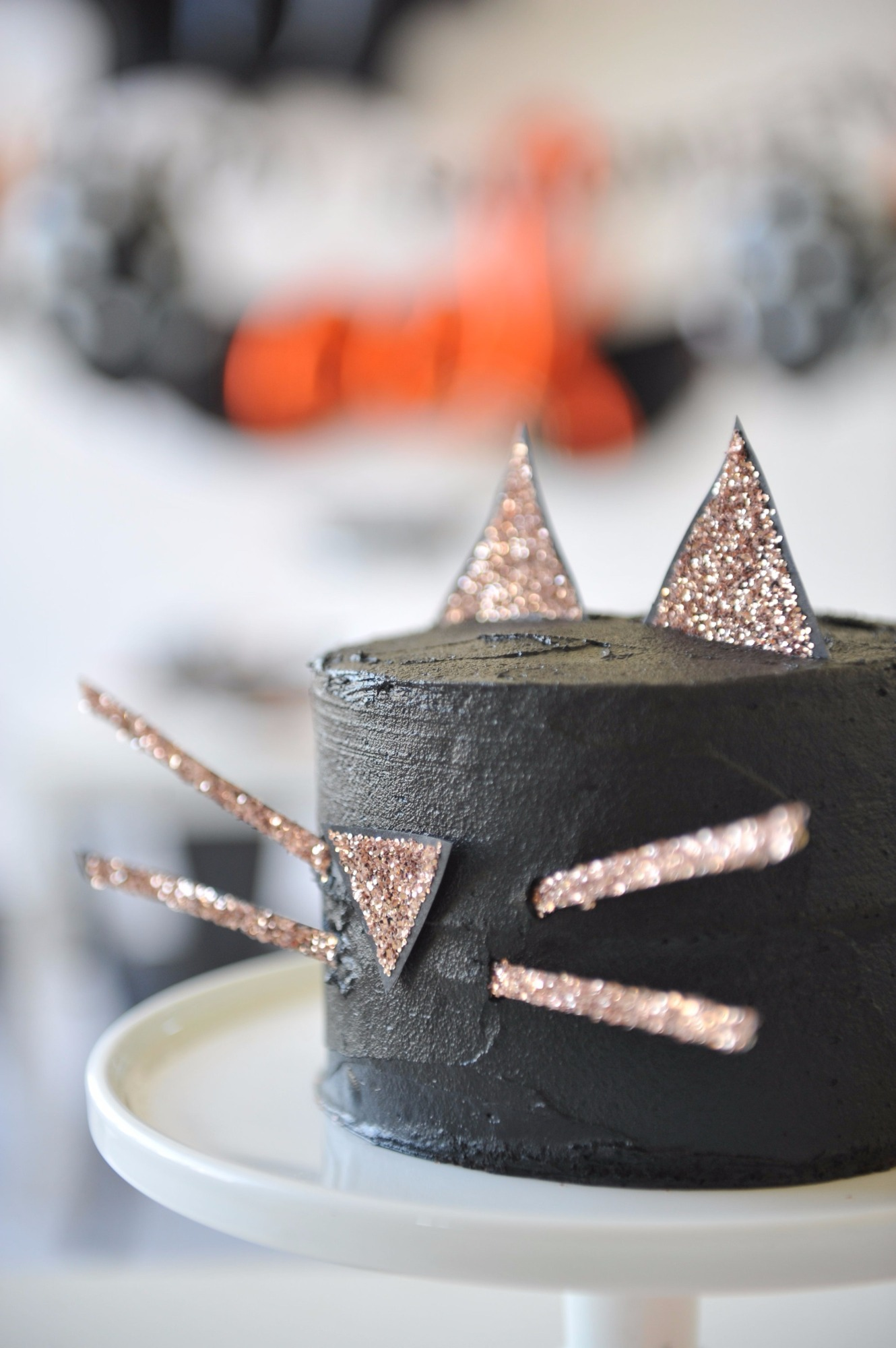 Black Cat Cake from Halloween Party by Happy Wish Company | Black Twine