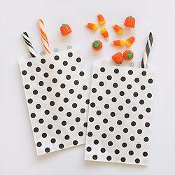 Black & White Polka Dot Party Bags - Happy Wish Company