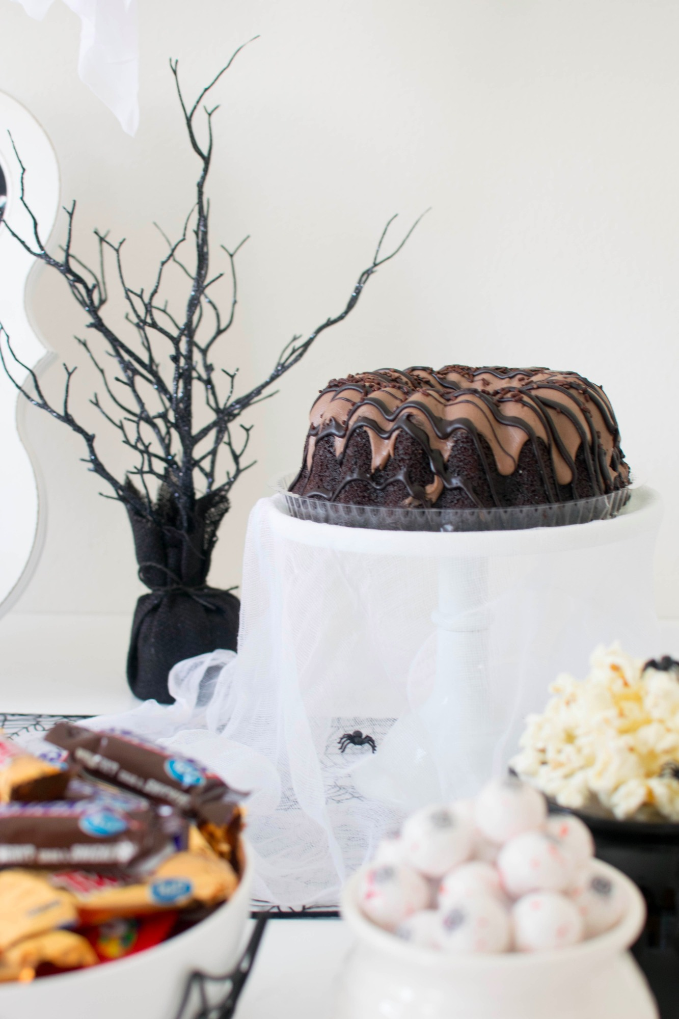 Chocolate Cake from Ghostly Halloween Party by Twinkle Twinkle Little Party | Black Twine