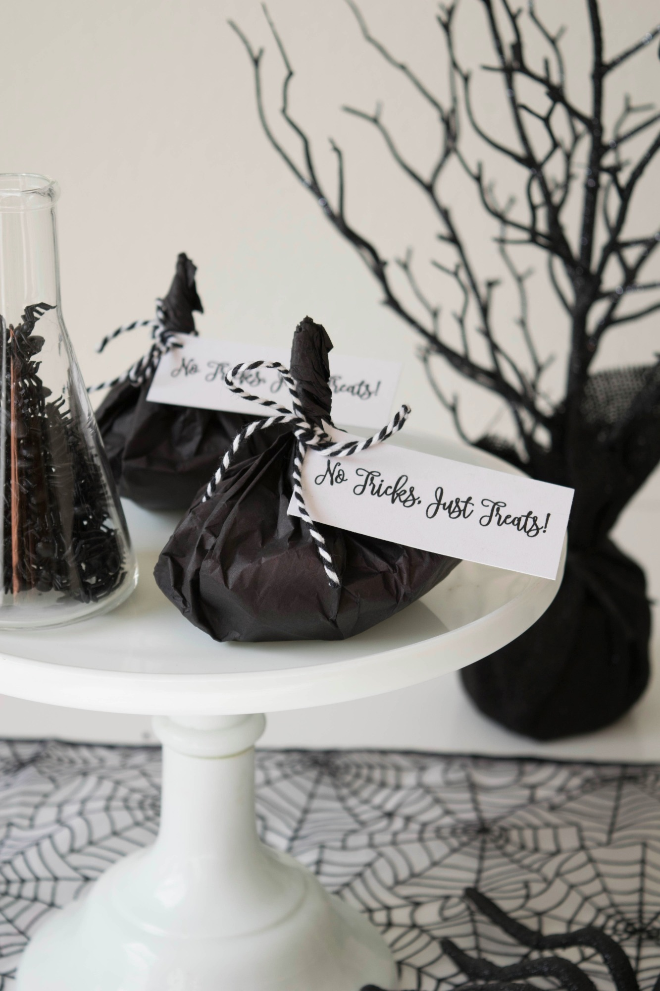 Candy Favor Bags from Ghostly Halloween Party by Twinkle Twinkle Little Party | Black Twine