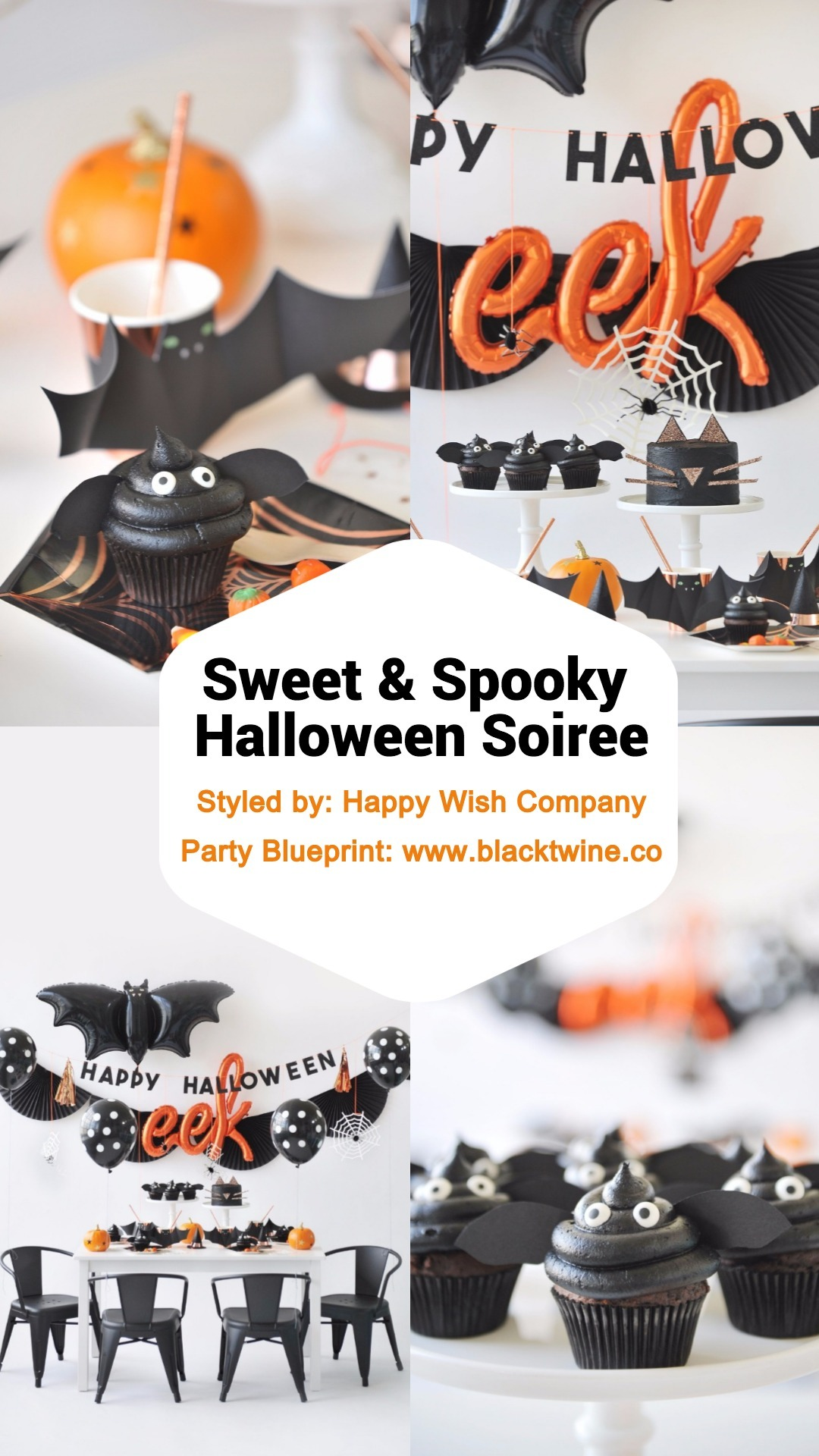 Sweet & Spooky Halloween Soiree Party by Happy Wish Company | Black Twine
