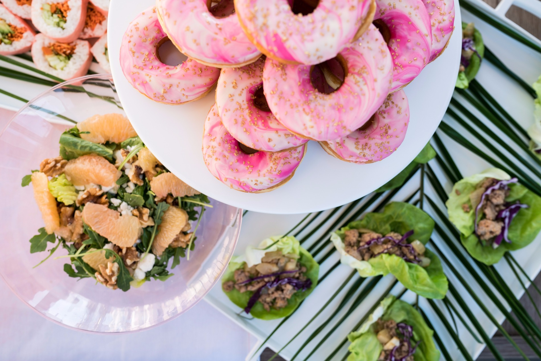 Pink Donuts Asian Lettuce Cups Grapefruit Salad | Black Twine