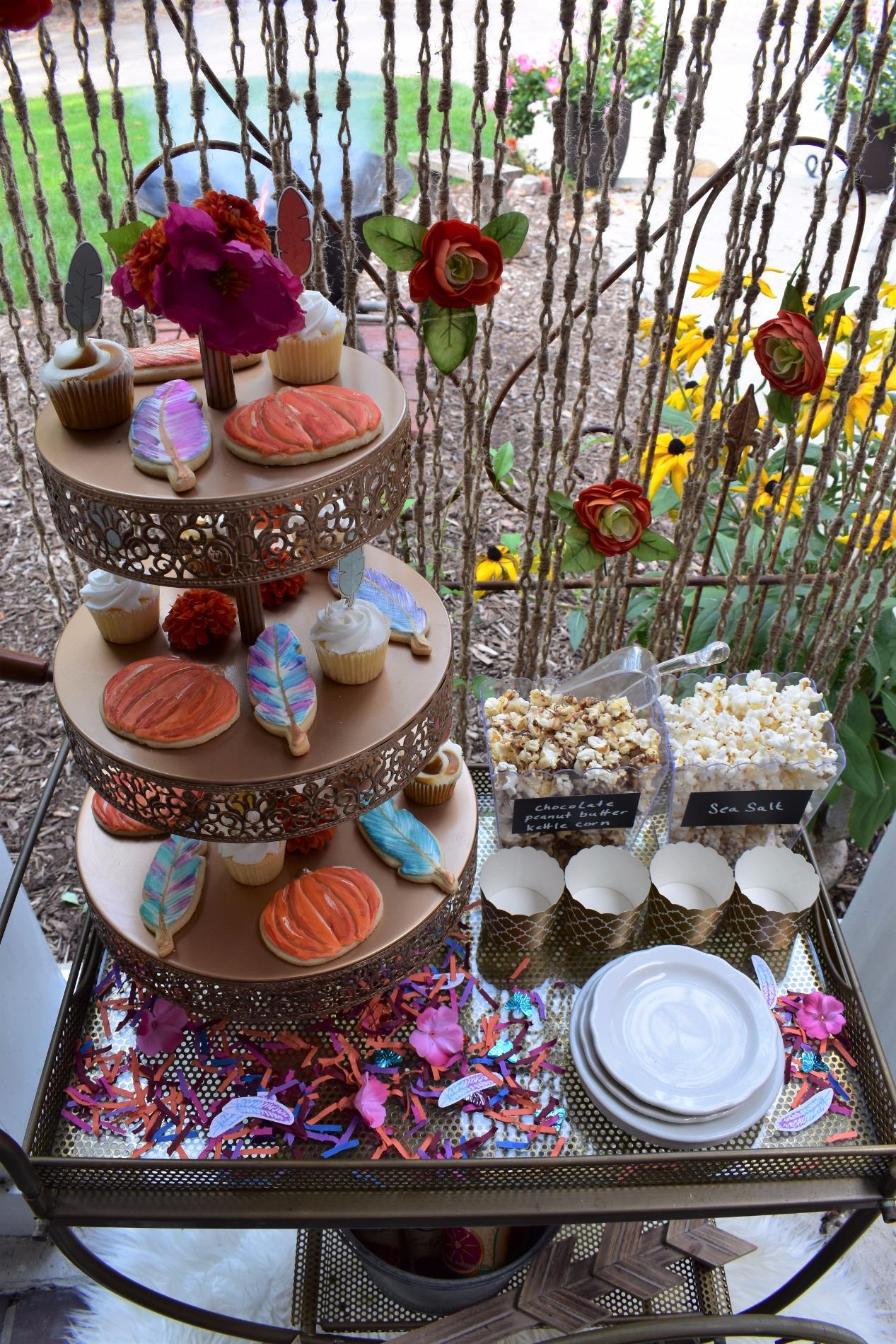Pumpkin Feathers Dessert Table by Giggle | Amalfi Decor | Black Twine