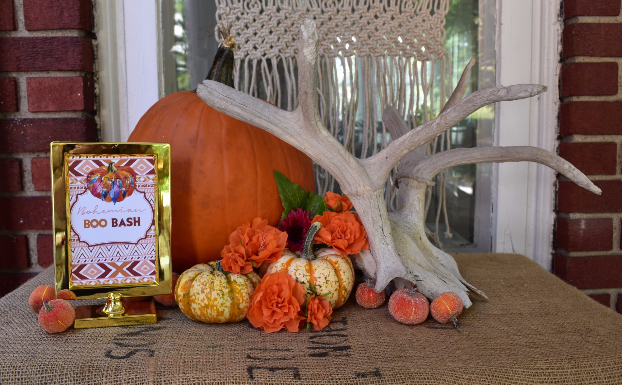 Pumpkin Table by Giggle Home Furnishings | Black Twine
