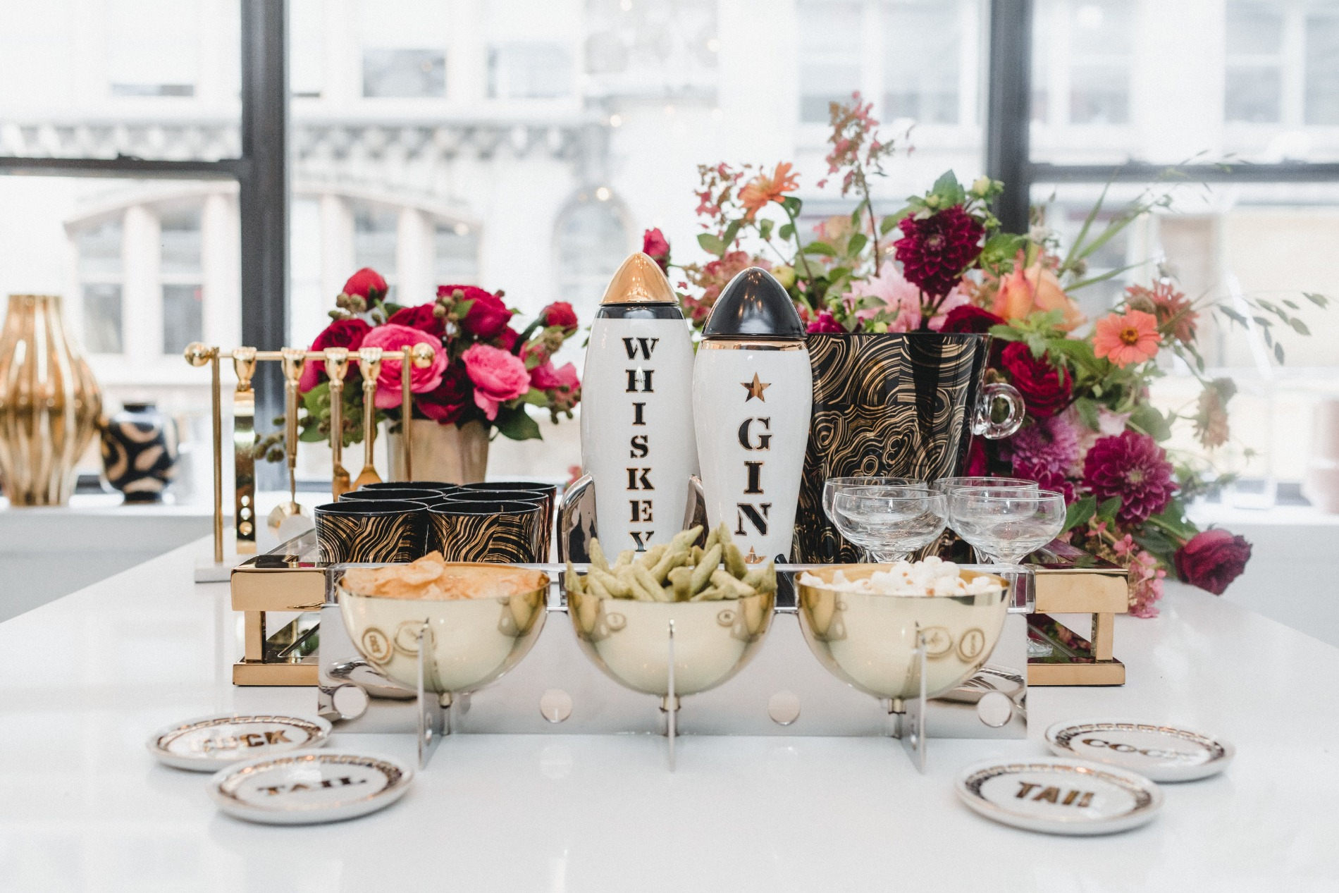 Cocktail Snacks from Fall Cocktail Party Jonathan Adler | Black Twine