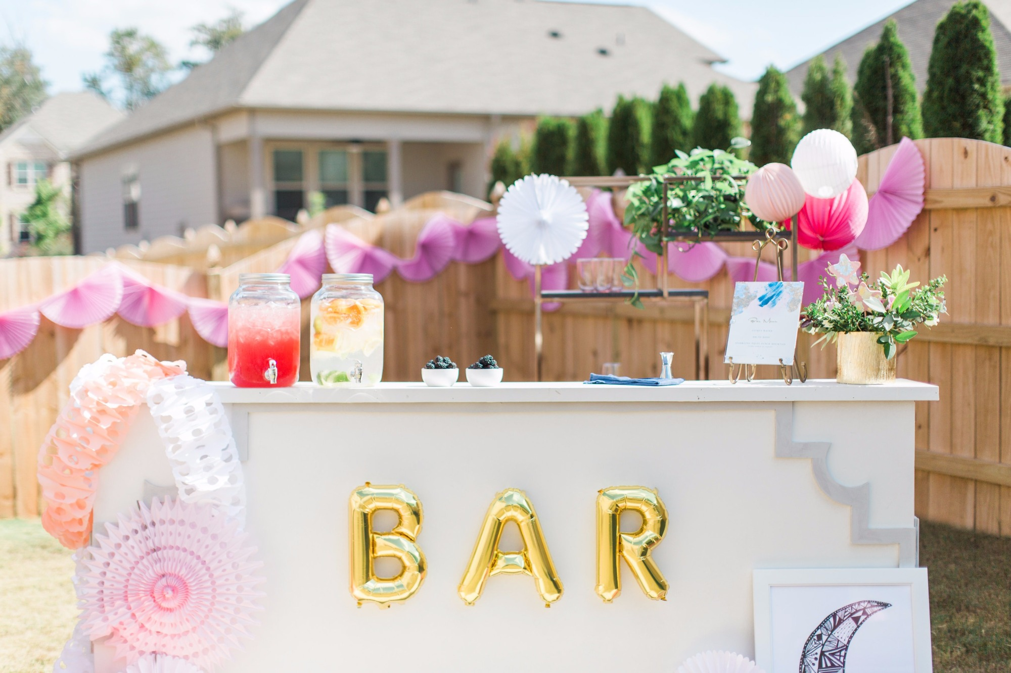 Bar from Love You To The Moon Baby Shower by Seventh Bixel | Black Twine
