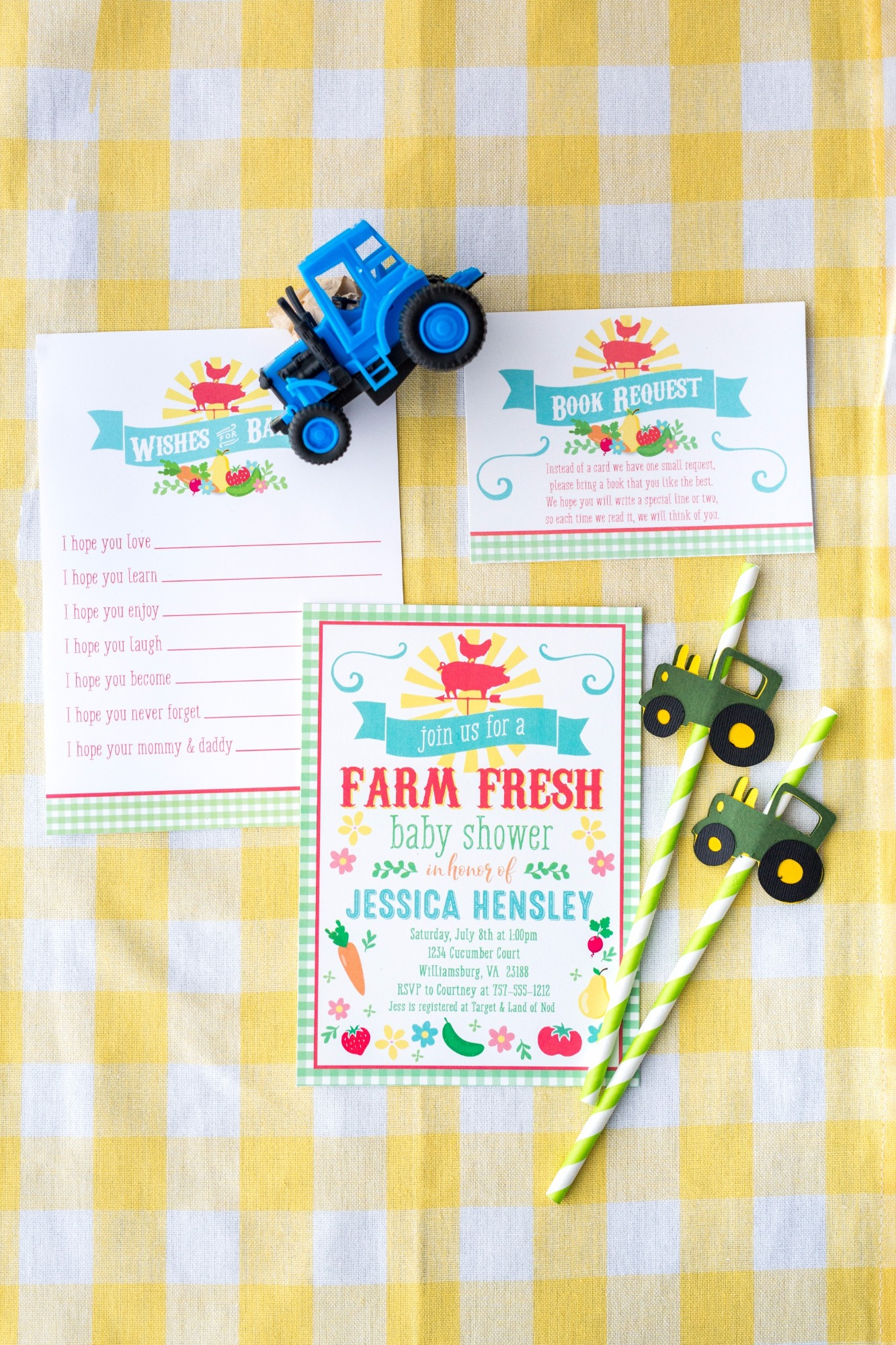 Farm Fresh Baby Shower | Black Twine