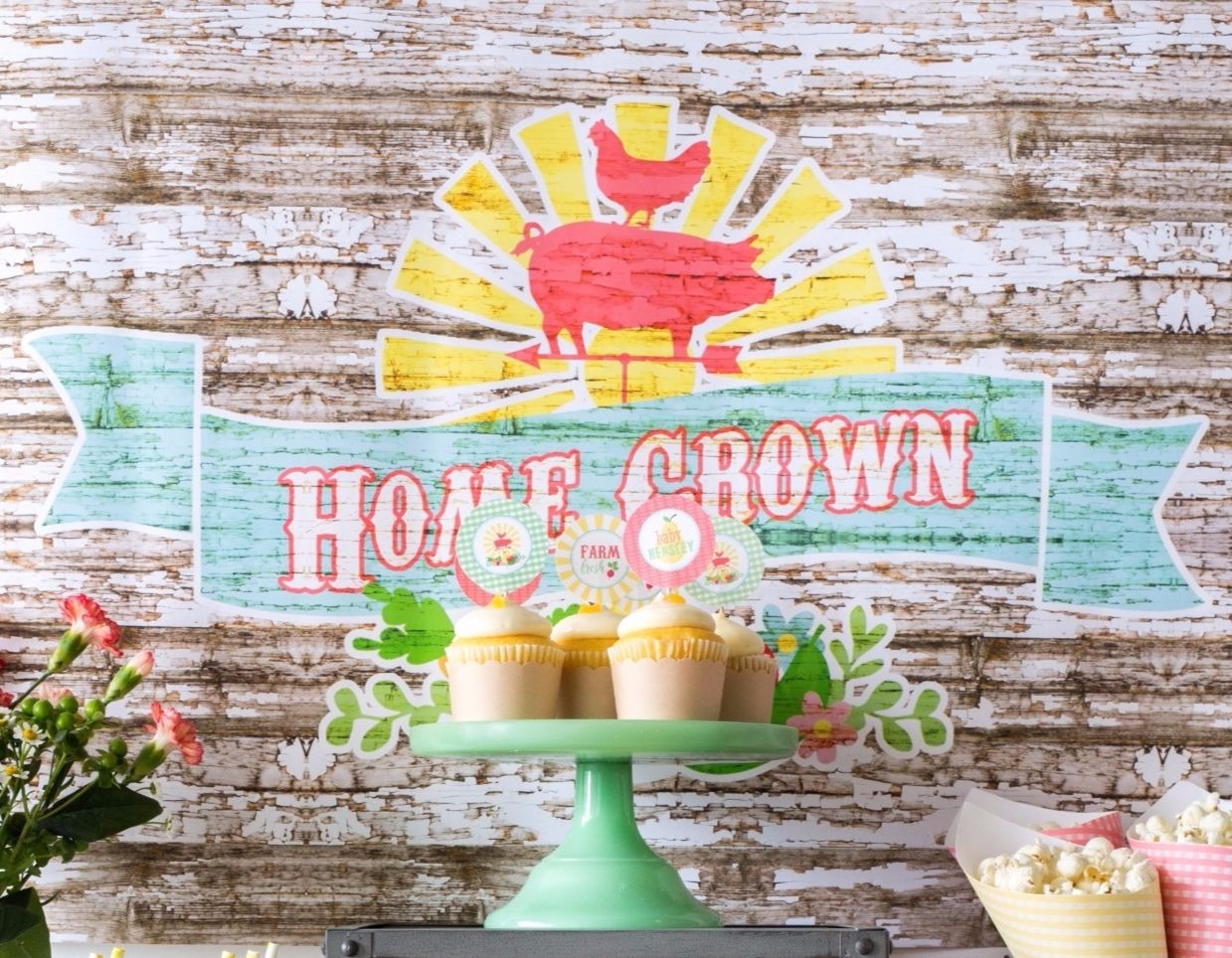 Home Grown Backdrop Poster Sign (DIY Printable) by Jen T by Design