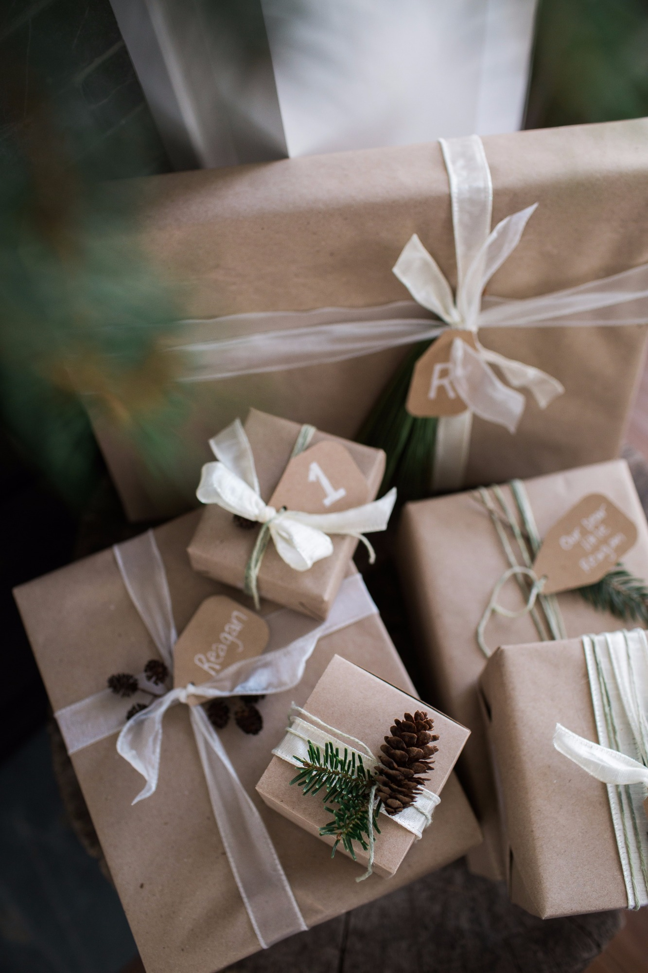 Kraft Paper Gift Wrapping from Vintage Little Deer by Cherry Blossom Events | Black Twine