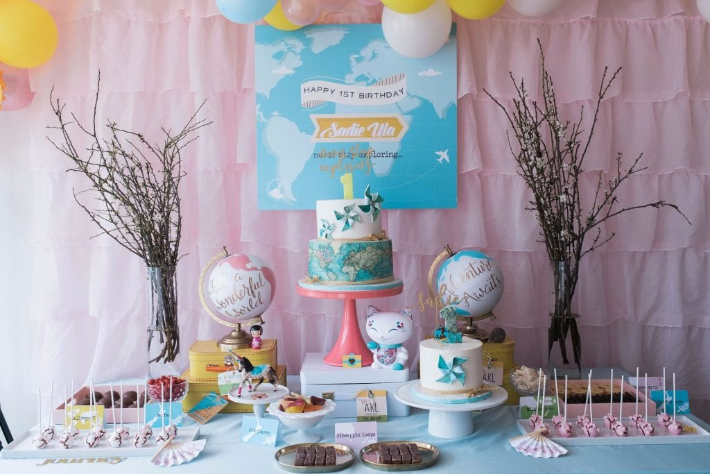 Around The World 1st Birthday Party