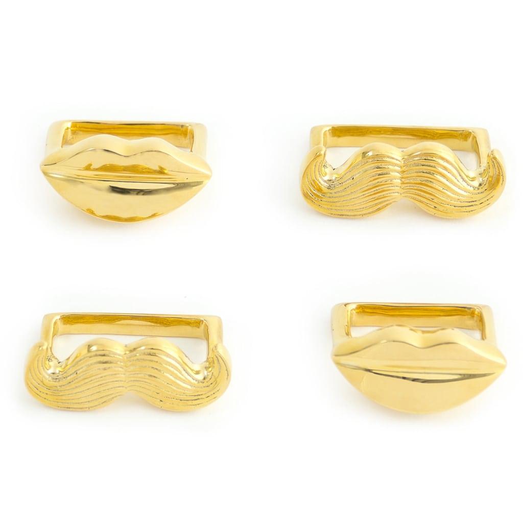 Brass Muse Napkin Rings