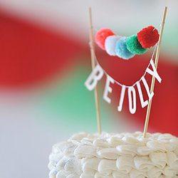 Be Jolly Pom Pom Cake Topper - Happy Wish Company