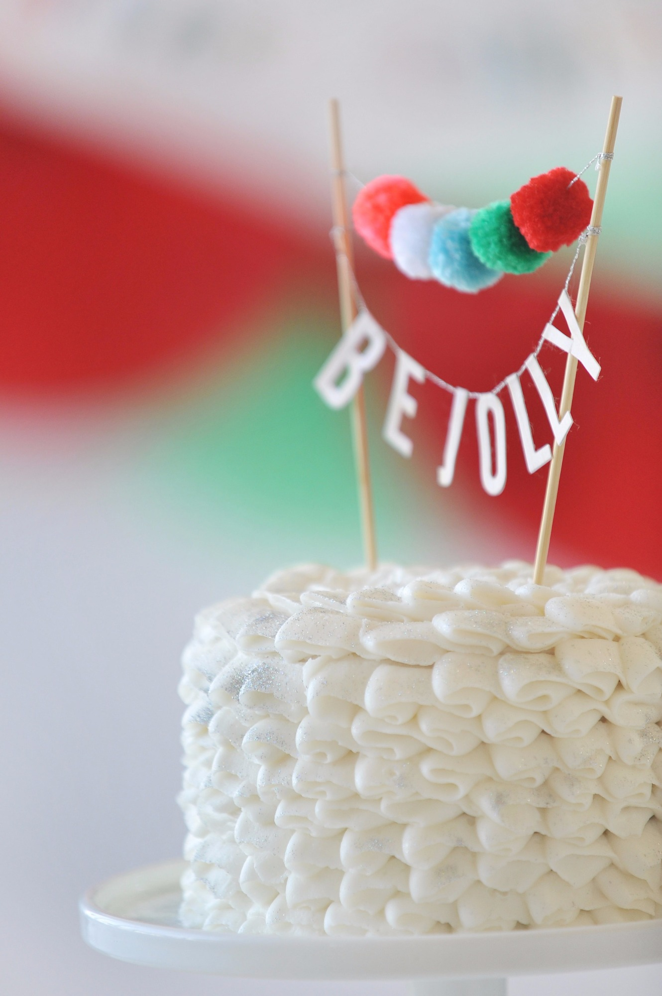 Be Jolly Cake Topper from Holly Jolly Party by Happy Wish Company | Black Twine