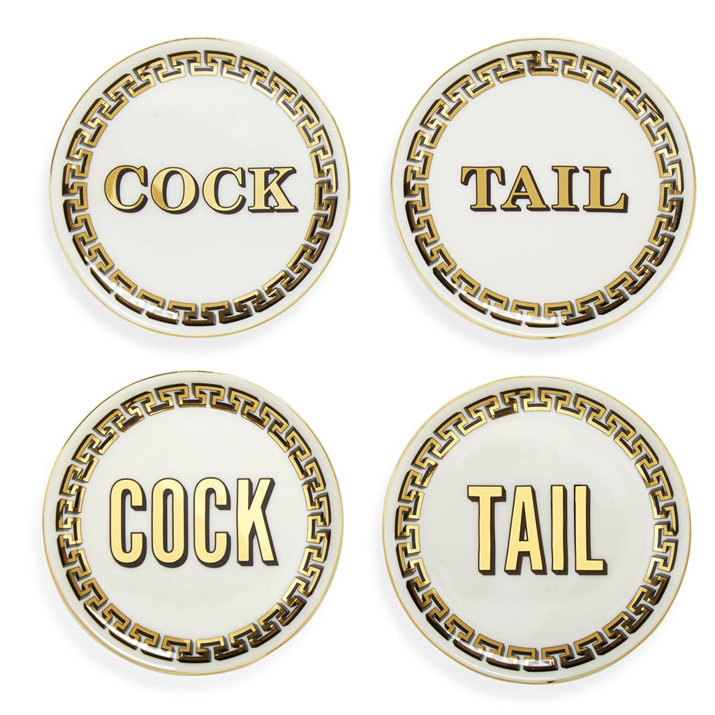 Cock/Tail Coasters by Jonathan Adler