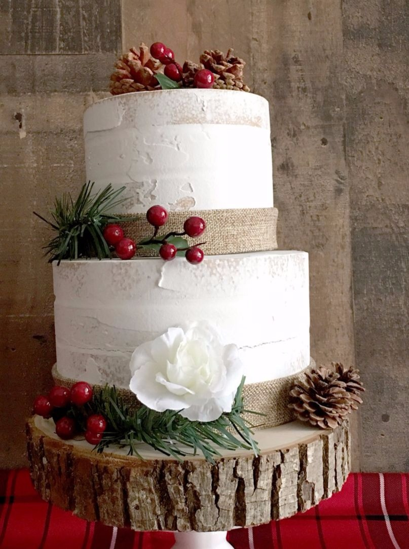 Cake from Winter Holiday Dinner Party styled by BellaGrey Designs | Black Twine