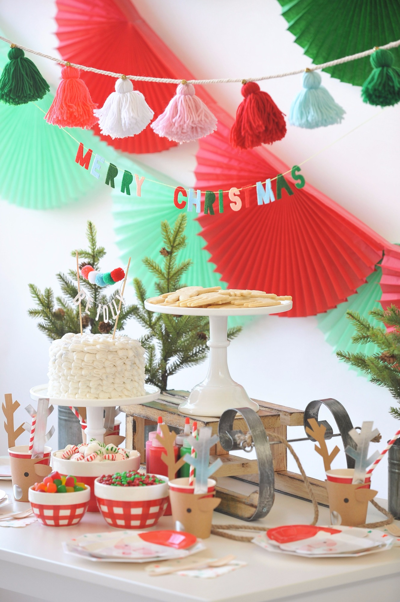 Cookies Plates Cake from Holly Jolly Party by Happy Wish Company | Black Twine