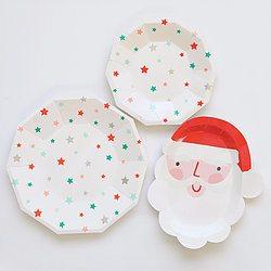 Christmas Party Plates - Happy Wish Company